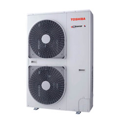 Toshiba inverter matched to Envirotec Heat Pump air curtains.