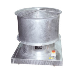 Envirotec Vertical Jet Smoke Extract (SMVJ) unit designed for roof mounting.